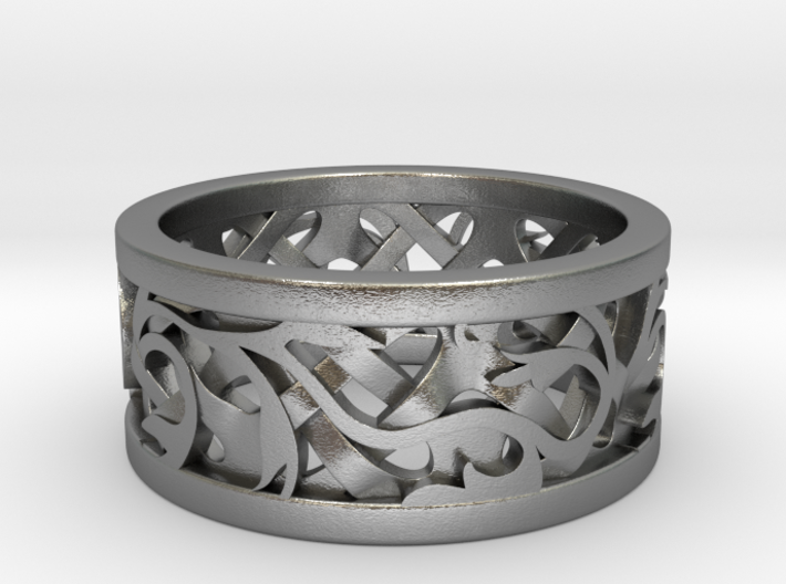 Celtic - capped lattice with vine 3d printed