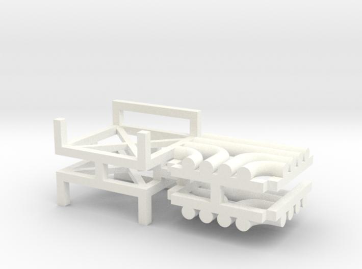 N Pipe Rack T Junction 2pc 3d printed