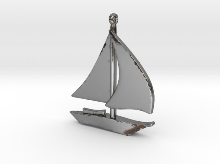 Boat Pendant 3d printed