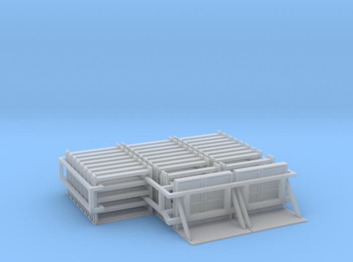 MOW Rail Frames - HOscale 3d printed