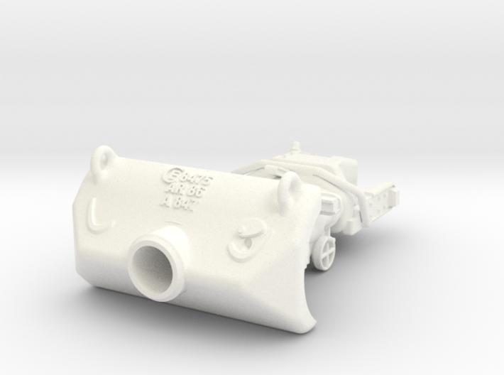 1-16 M10 Gun Shield + Block 3d printed