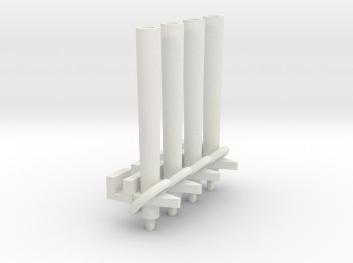 (Armada) 4x Squadron Pegs for 1 ship each 3d printed