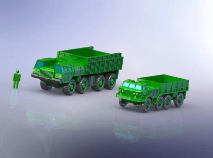 MAZ 7310 / ZIL 135 Trucks  1/220 Z-Scale 3d printed Add a caption...