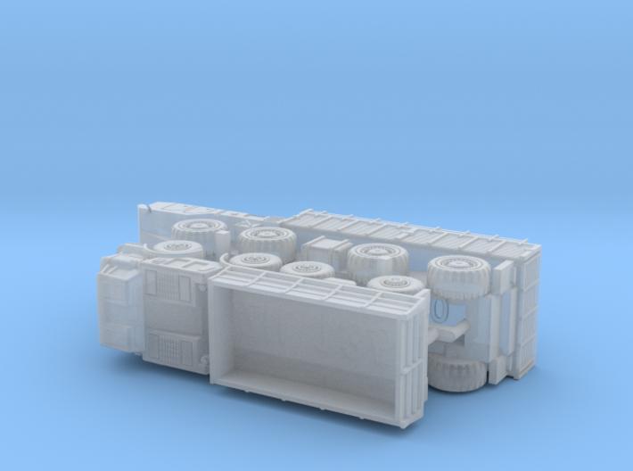 MAZ 7310 / ZIL 135 Trucks  1/220 Z-Scale 3d printed