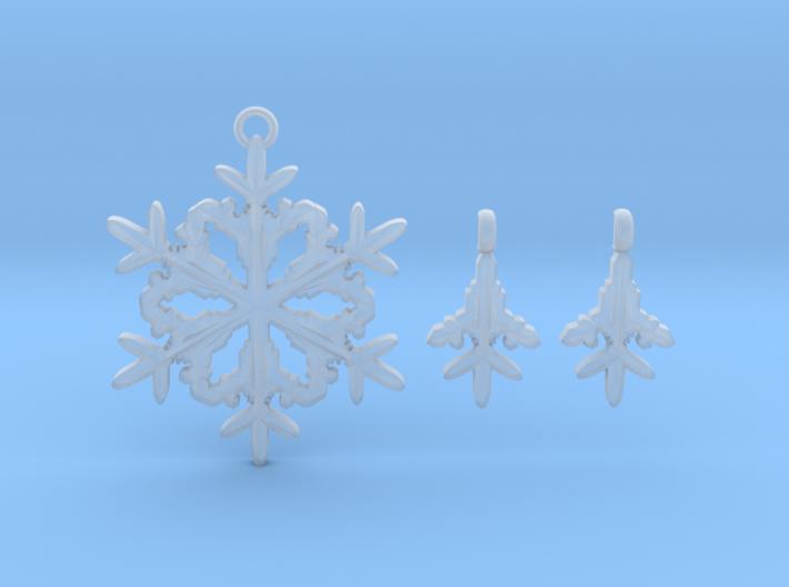 Snowflakes pendants 3d printed