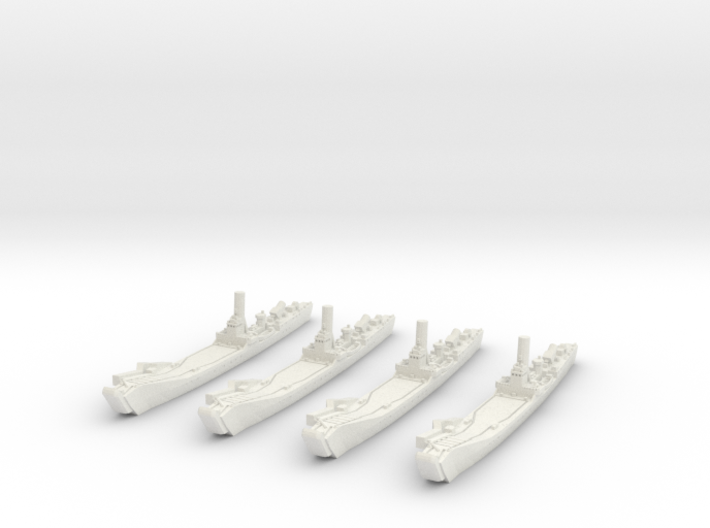 1/1800 IJN No.101 Landing Ship (X4) 3d printed