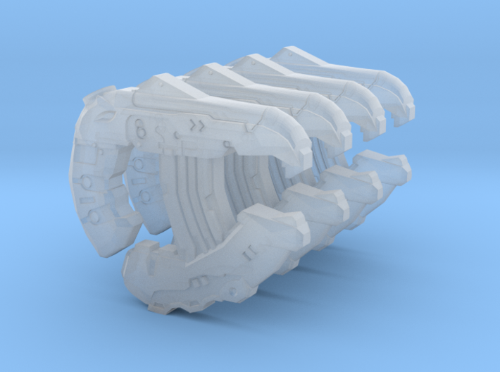 1:18 4x Sci-Fi direct energy pistols 3d printed