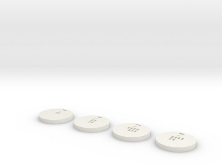 Sabacc Chips - 1 Credit, 5 Credit, 25 Credit and 5 3d printed