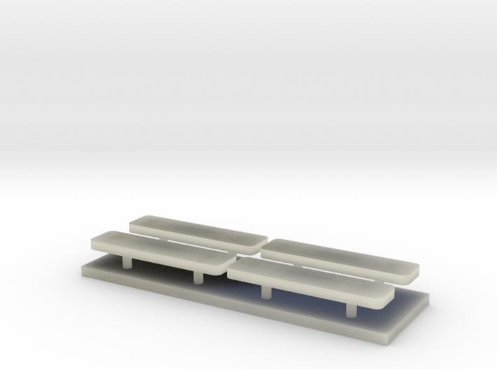 Whelen lightbar 29,5 mm 4stuks 1/43 3d printed