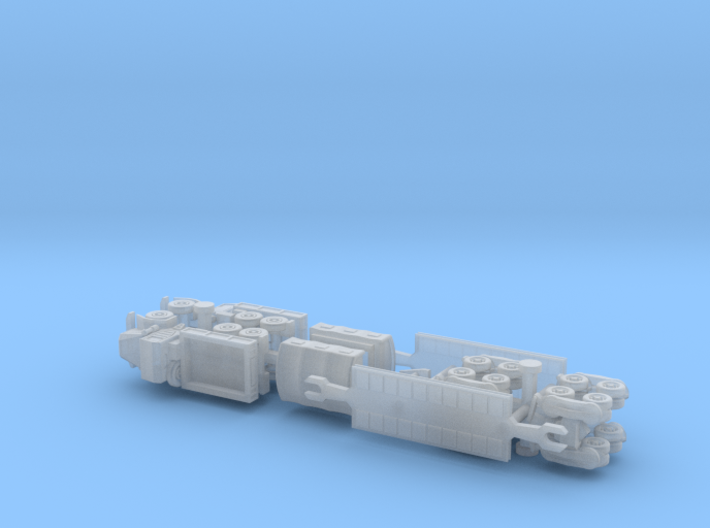 Faun 908 / 912 Tank Transporter 1/285 6mm 3d printed
