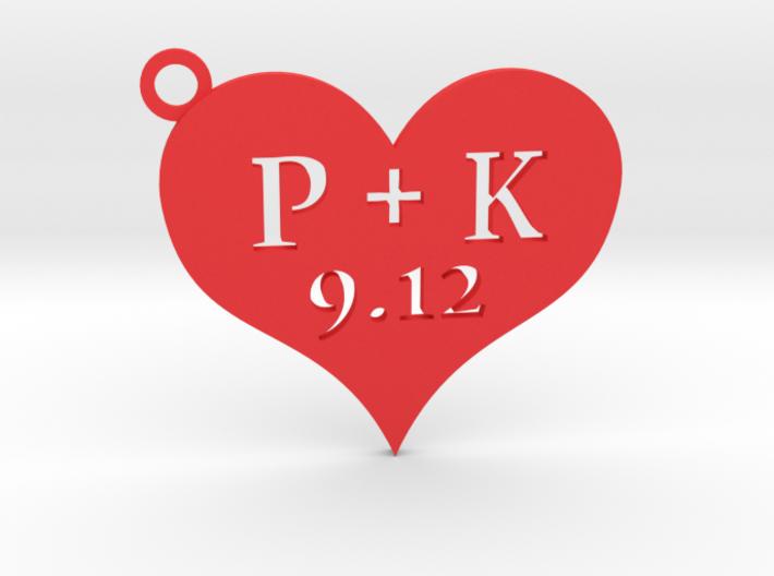Love Heart Keychain custom 3d printed