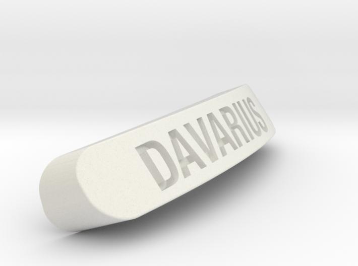DAVARIUS Nameplate for Steelseries Rival 3d printed