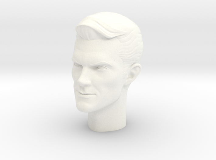1:6 Scale James West Head 3d printed