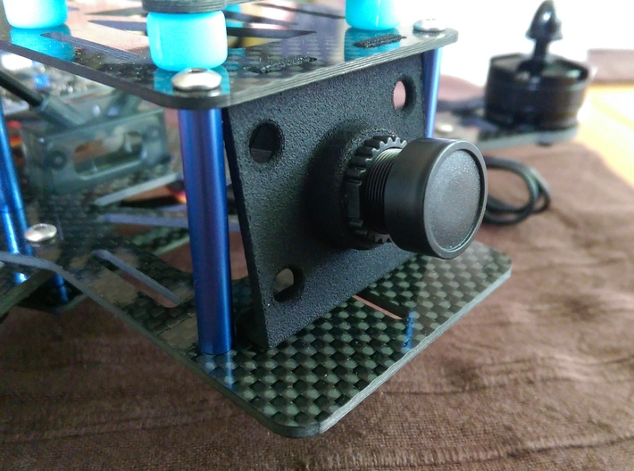 10° Cam Mount 600 Tvl for EMAX Nighthawk frame 3d printed