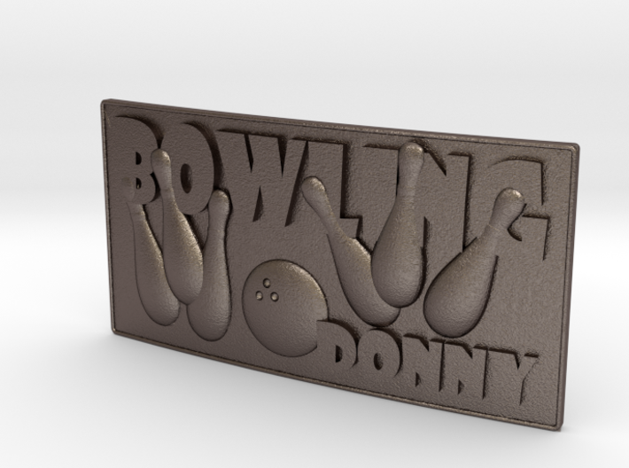 Bowling Beltbuckle 3d printed