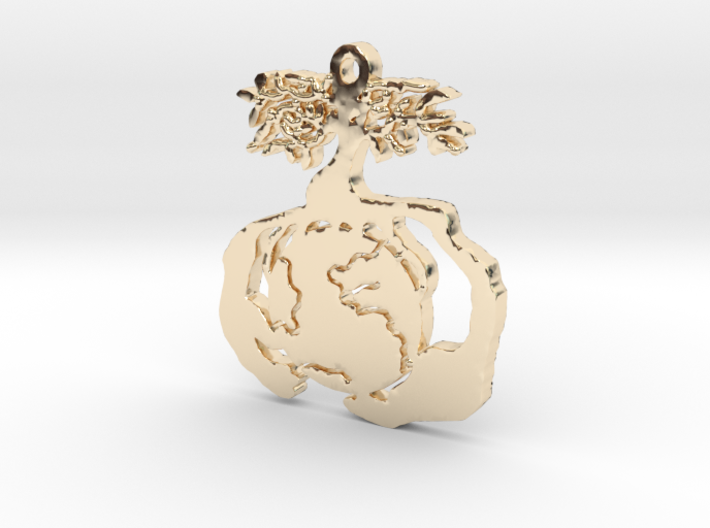 Earth Tree Conservation Necklace Pendant 3d printed