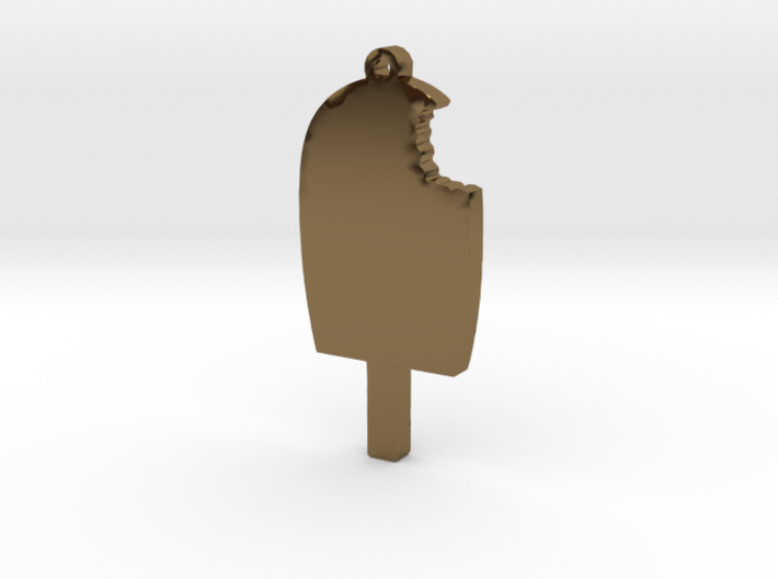 Ice Cream Bar with bite Missing Necklace Pendant 3d printed