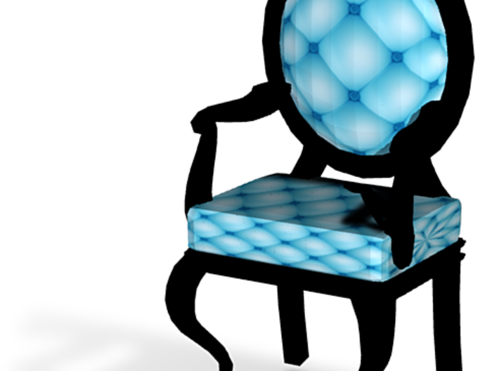 1:144 Micro Scale SkyBlack Louis XVI Oval Chair 3d printed