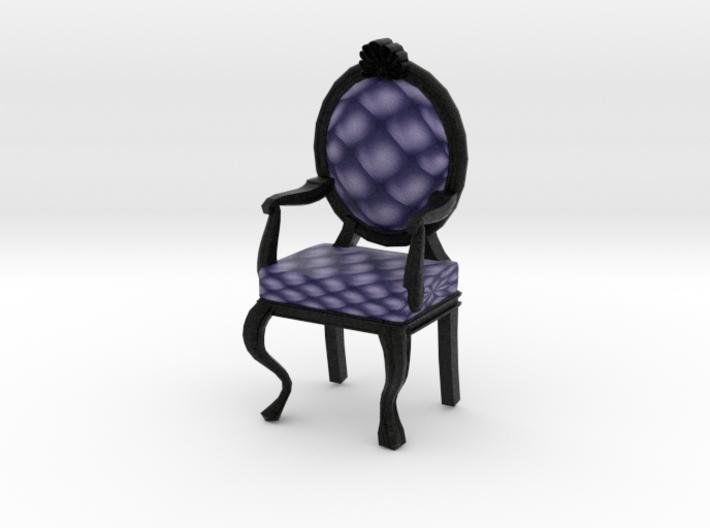 1:144 Micro Scale NavyBlack Louis XVI Oval Chair 3d printed