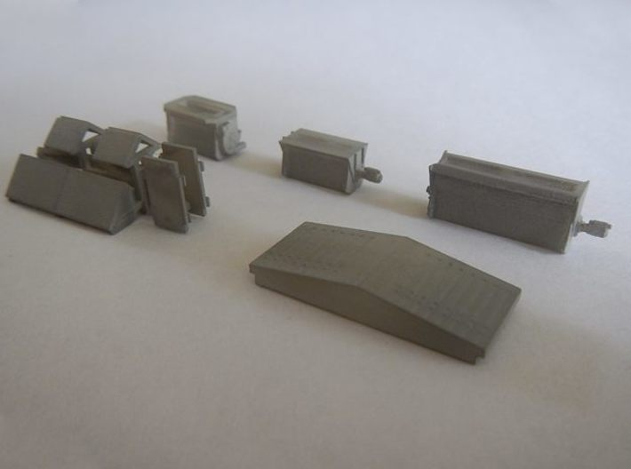 #1 Ballast Gate Miner Type Long [2 cars] 3d printed Model series parts