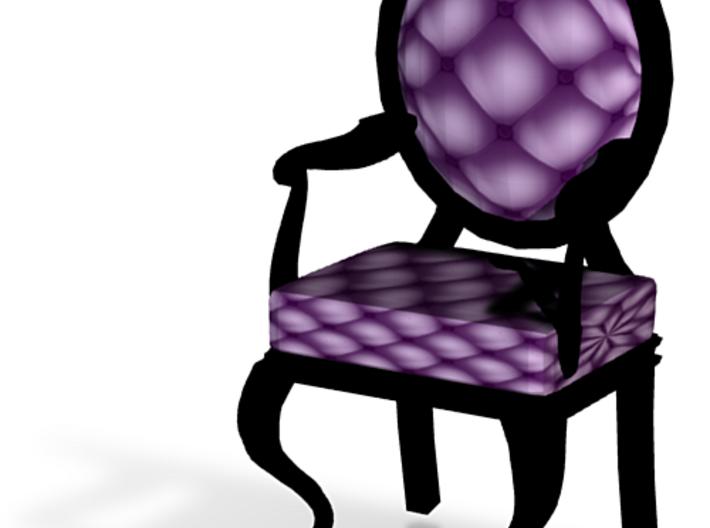 1:24 Half Inch Scale VioletBlack Louis XVI Chair 3d printed