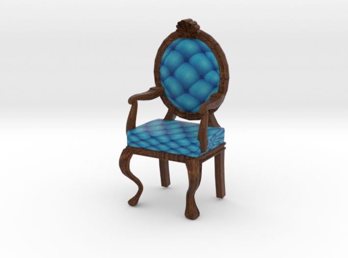 1:48 Quarter Scale RobinDark Oak Louis XVI Chair 3d printed