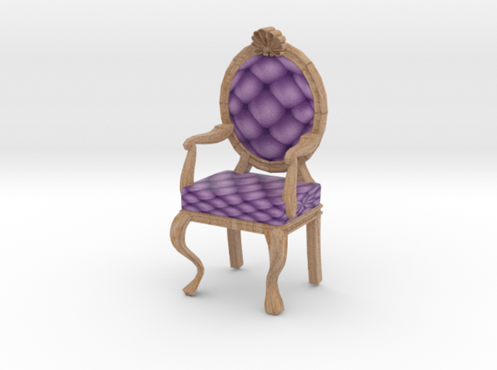 1:48 Quarter Scale LavPale Oak Louis XVI Chair 3d printed