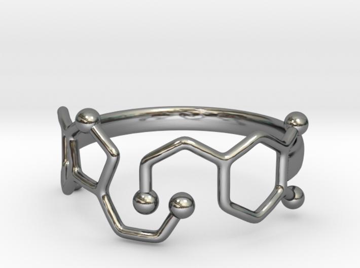 Dopamine Serotonin Molecule Ring Size10 3d printed