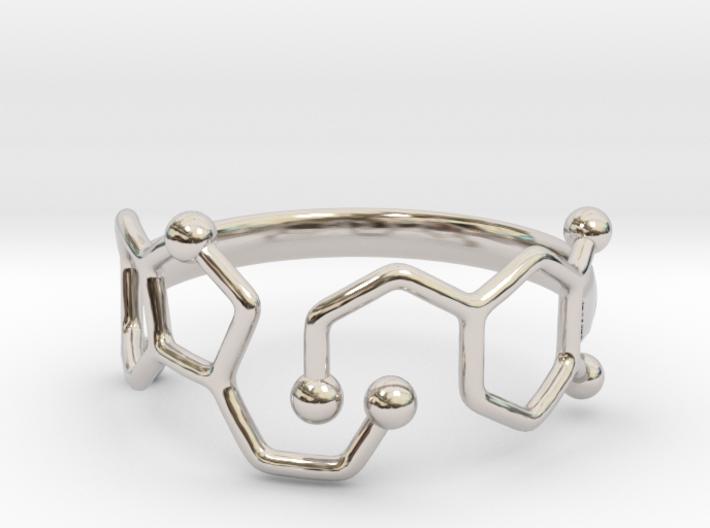 Dopamine Serotonin Molecule Ring Size 9 3d printed