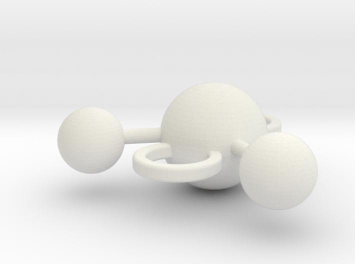 water molecule bead 3d printed