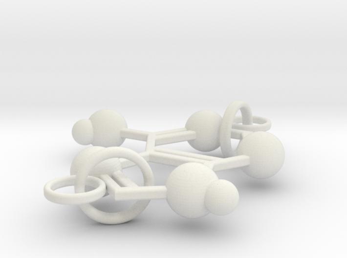 Adenine(double Ring) 3d printed