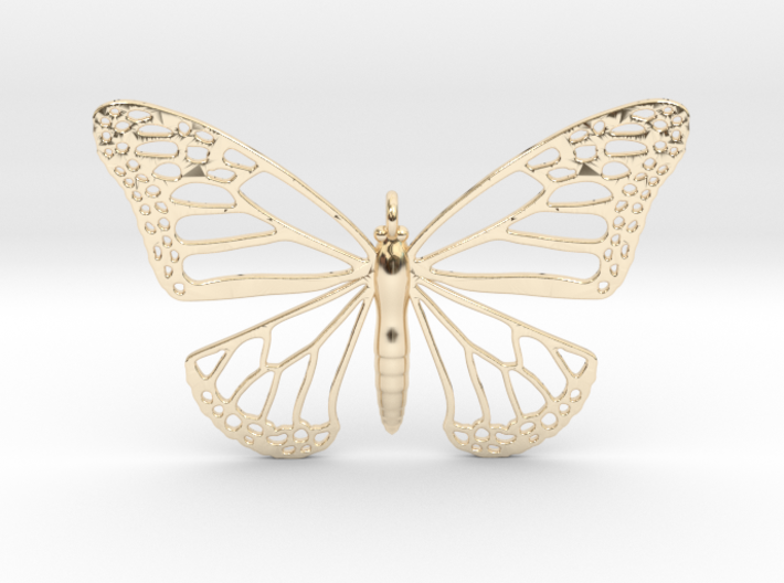 Strong Monarch Pendant 3d printed