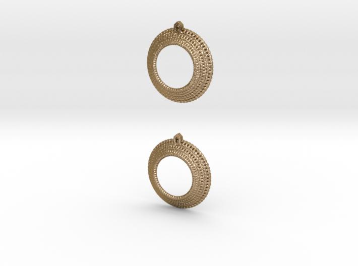 Crochet Earrings (steel and plastic). 3d printed