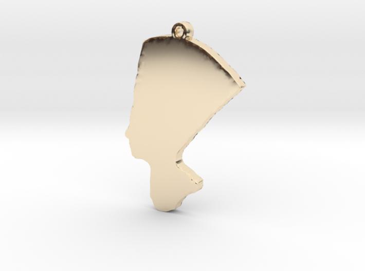 Queen Nefertiti Necklace Pendant 3d printed