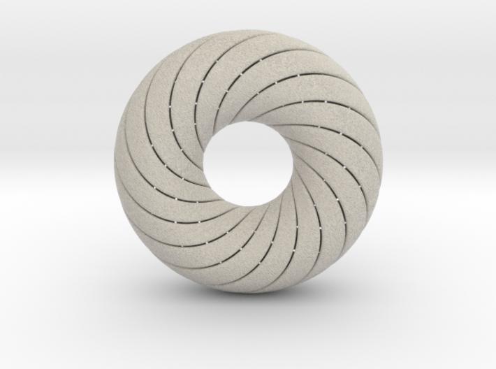 0172 8-Torus [2-2-4-4] (n=8, 5.0cm) 3d printed