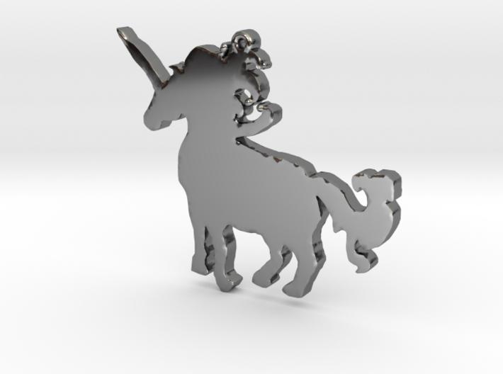 Unicorn Necklace Pendant 3d printed