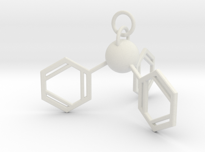 Triphenylphosphine(ring added) 3d printed