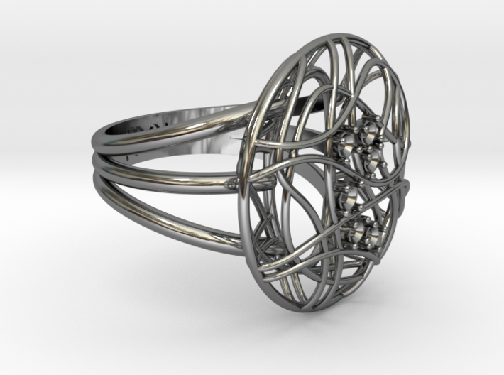 Complicated Ring 3d printed