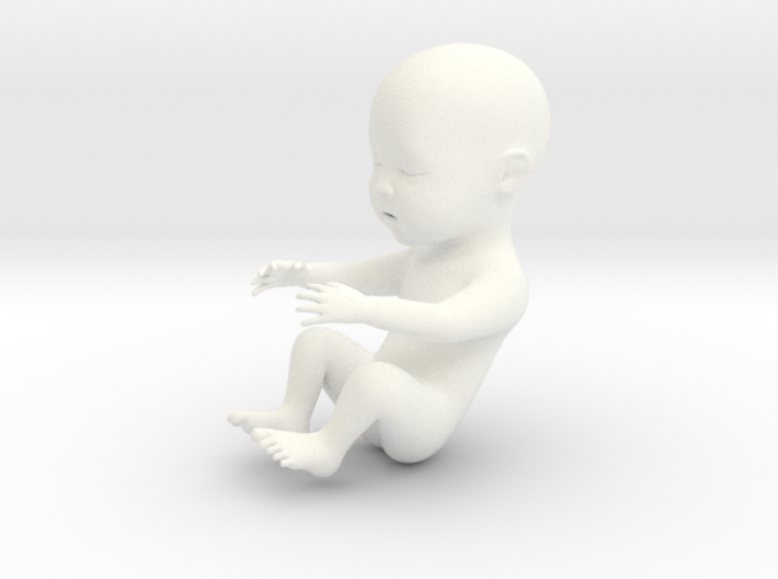 Baby in 5cm Passed 3d printed