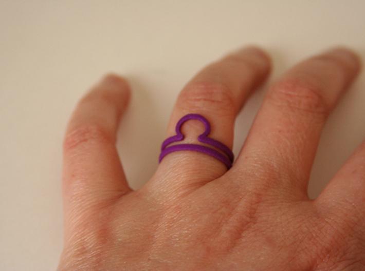Libra Symbol Ring 3d printed