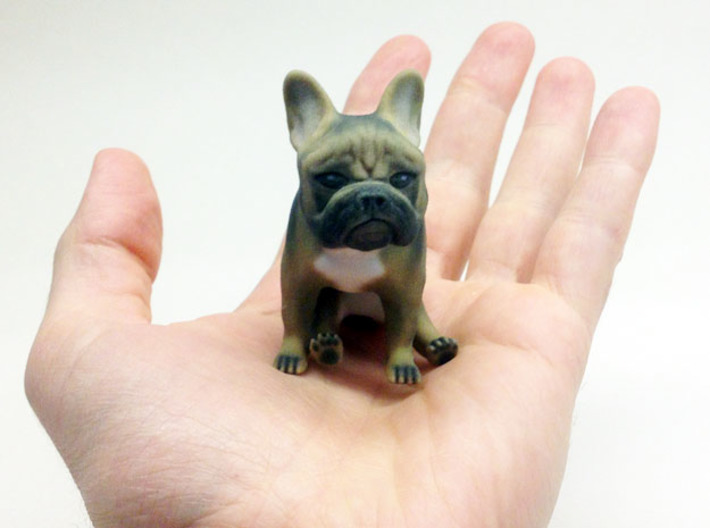 Sitting Deviled Eye Brown Frenchie  3d printed