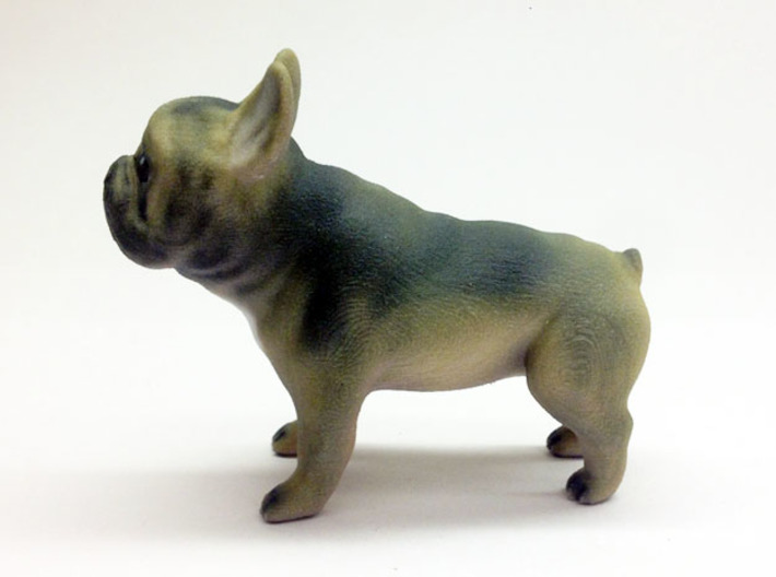 Brown Frenchie 3d printed