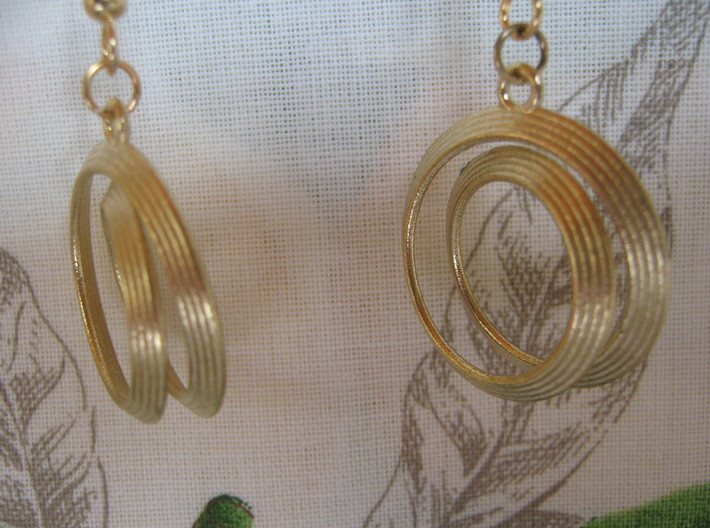 Four-Coil 1 2 Earrings 3d printed
