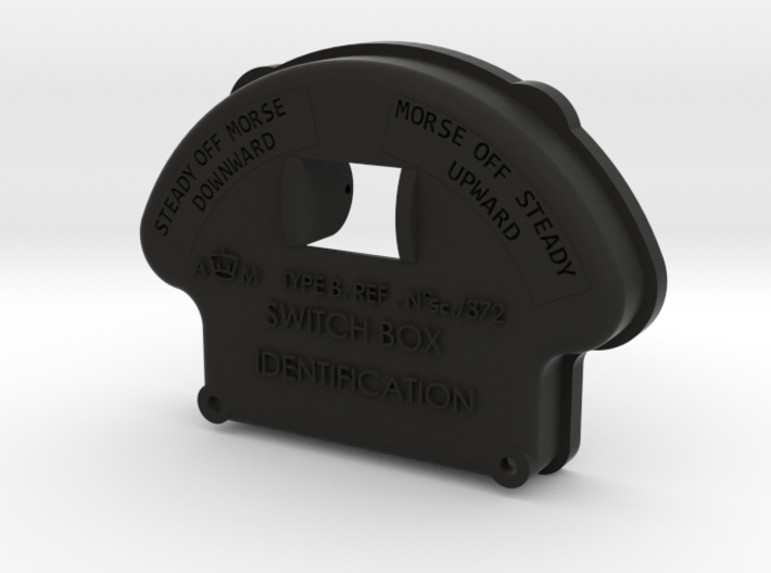 Morse Key Front Plate 3d printed