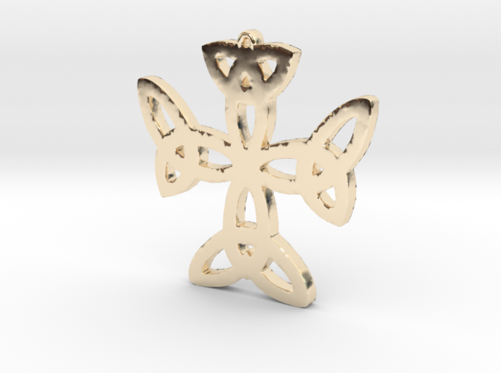 Celtic Knot Cross Necklace Pendant 3d printed