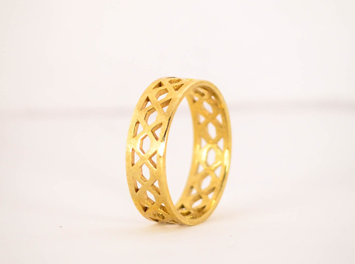 Intertwining Ring Size 5 3d printed