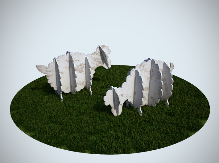 Wooden Sheep 1:12 3d printed 3Ds Max Render