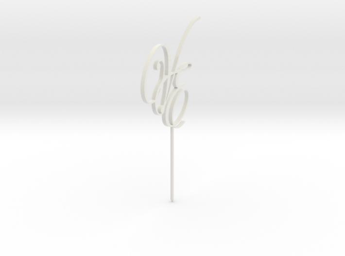 Cake Topper VE Letters MESH 3d printed
