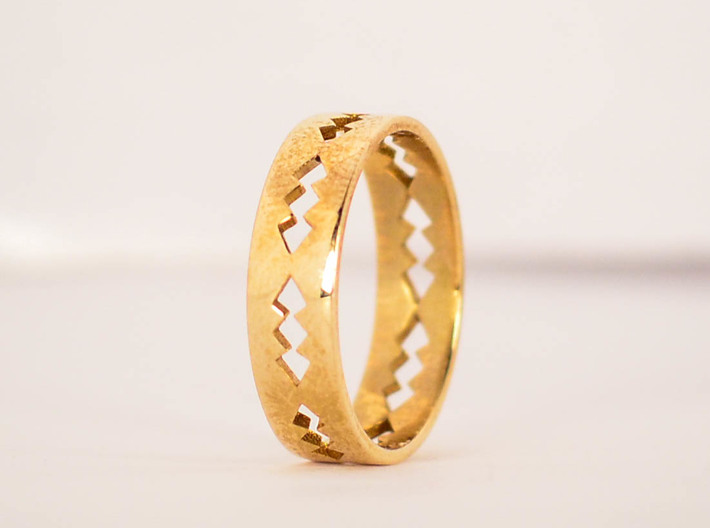 Jagged Ring Size 6 3d printed
