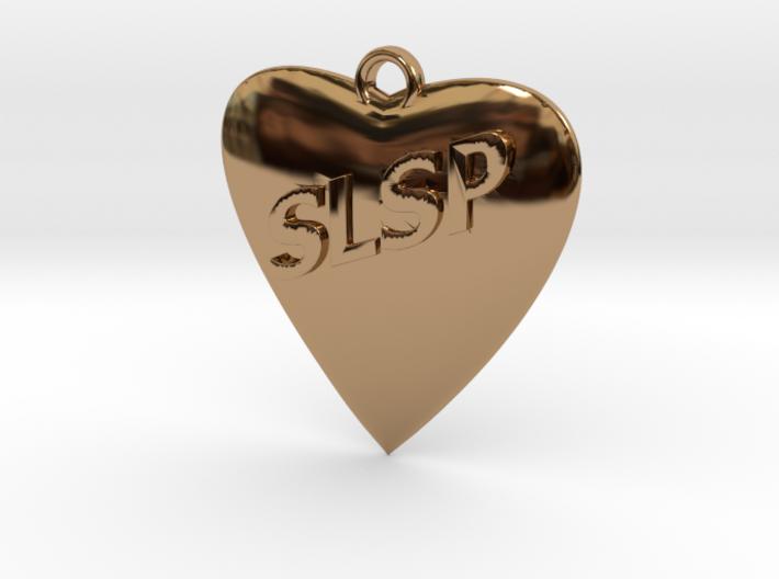 Monogram Heart 3d printed